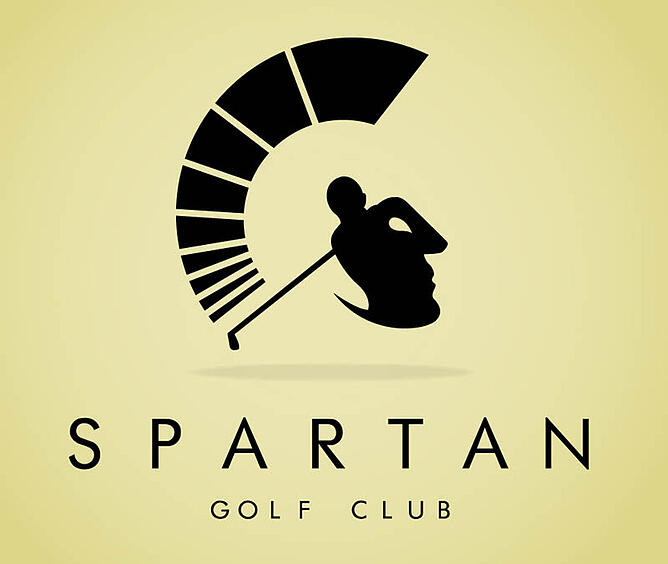 Typing Club Logo This Spartan Golf Club Logo is